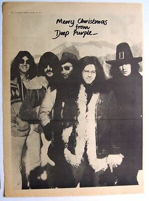 DEEP PURPLE 1971 Poster Ad MERRY CHRISTMAS FROM DEEP PURPLE