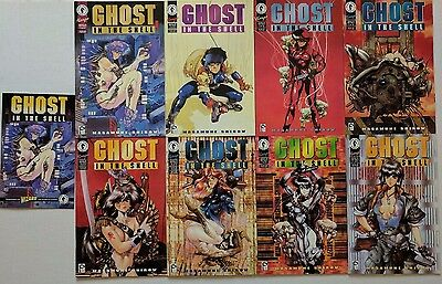 Ghost in the Shell Manga Comic Issues 1 - 8 Complete Masamune Shirow 1995 Ashcan