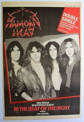 DIAMOND HEAD 1982 Poster Ad IN THE HEAT OF THE NIGHT