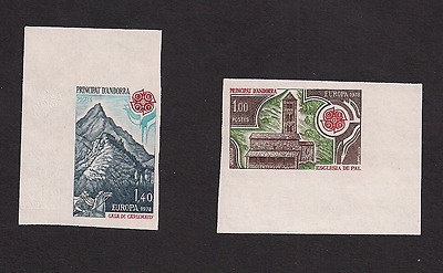 French Andorra Europa MNH mint Imperf imperforated sc 262-263