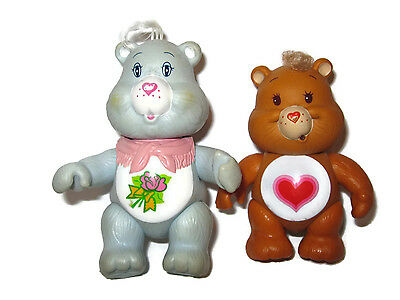Care Bears Tenderheart and Grams bear Lot poseable 1980s 80s toy poseable
