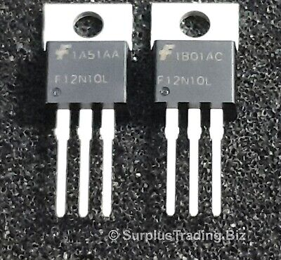 RFP12N10L MOSFET N-Ch 100V 12A TO-220AB (Pk of 2)
