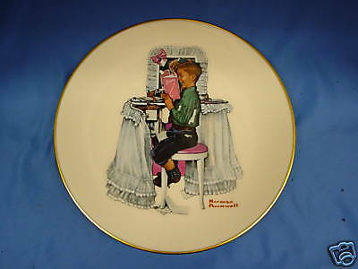 Norman Rockwell Collector Plate Set  Set Of 12