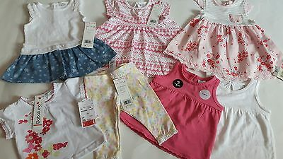 George/f&f/babaluno Baby Girls Bundle Of Clothing Bnwt Age 0/3 Months Rrp £35.00