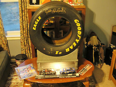 Dale Earnhardt Signed race tire, Richard childress , among others