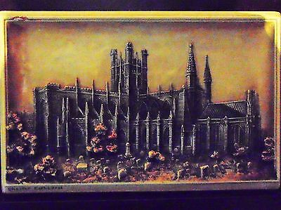 "ARTHUR OSBORNE 'IVOREX' Chester Cathedral  WALL PLAQUE 11.5"" x 7.5"""