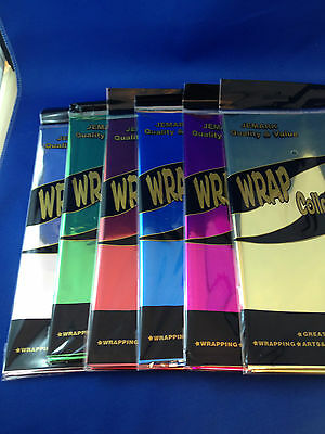 New Luxury plain foil paper various colours and designs scrapbooking wrapping