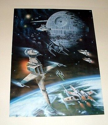 Star Wars Vehicles Official Fan Club Poster - 27X20 - 1983