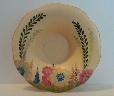 Art Deco Hancocks Ivory Ware 8530 Handpainted Floral Bowl 1920s / 1930s