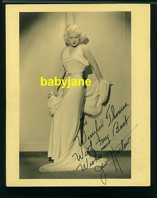 Jean Harlow Vintage 8X10 Photo Signed By Mama Jean Double Weight