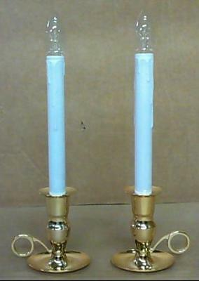 Set of 2 Cordless LED Bright Outdoors/Soft Indoors Candles