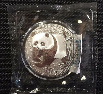 2002 China 1 oz Silver Panda - Double Sealed in original mint packaging