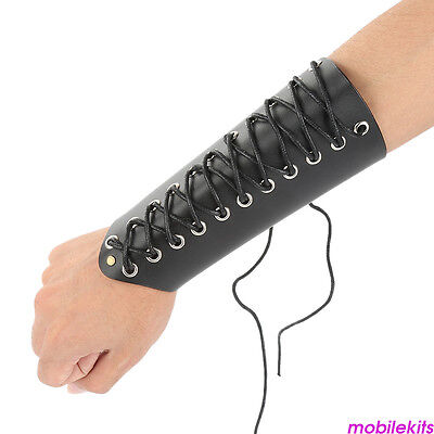 Archery Cow Leather Protective Arm Guard Glove Bracer Armlet Arrow Recurve bow