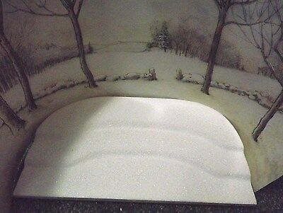 Wee Forest Folk Winter Backdrop Scene And Snowy Platform
