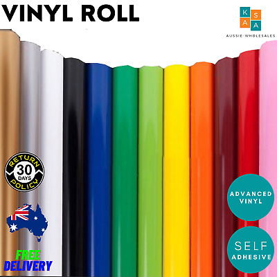 Plotter Cutter Vinyl Roll PVC Design Film 140g Paper Advertising 1.2m x 9m