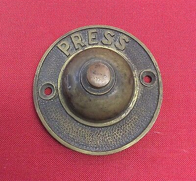 Rare Original Antique Brass PUSH Bell Door Bell Arts & Crafts