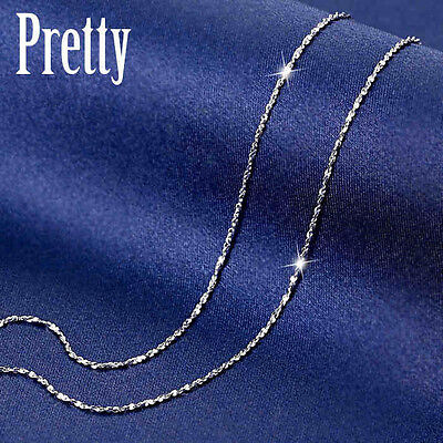 New 925 Sterling Silver 1MM Starry Silver Chain Necklace for Pendant Stunning