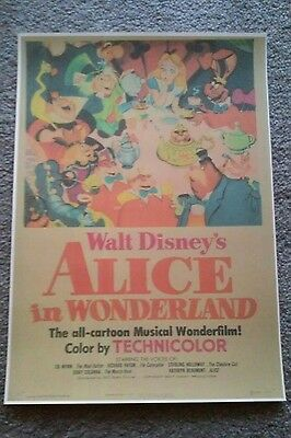 ALICE IN WONDERLAND Disney Poster Picture Collectable Print Size A3
