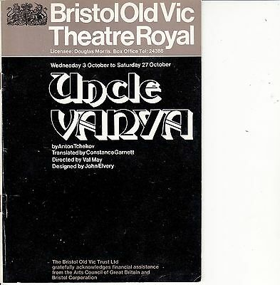9 Bristol Theatre Programmes from 1973 - PETER O'TOOLE - NIGEL STOCK- JIM DALE