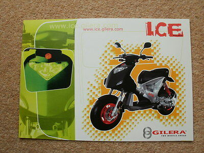 Original Gilera Ice 50cc scooter brochure 2001