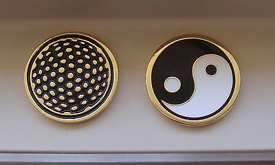 1 only YIN YANG GOLD GOLF BALL MARKER approx 23mm