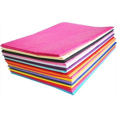 LUXURY ACID FREE TISSUE PAPER - 750mm x 500mm Sheets - 14 Colours To Choose From
