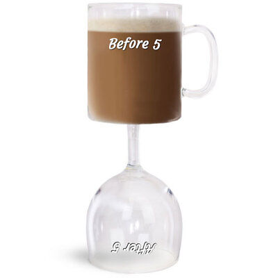 Before & After 5 Coffee & Wine Glass Brand New