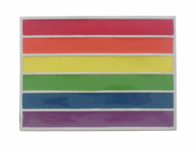 Rainbow Flag Belt Buckle Brand New