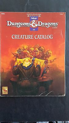 D&D CREATURE CATALOG DMR2 #9438 Hard to find book -128 pages TSR 1993