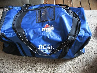 "Labatt Blue Beer Real Hockey Bag  EXCELLENT CONDITION  +/- 36"" x 18"" x 16"""