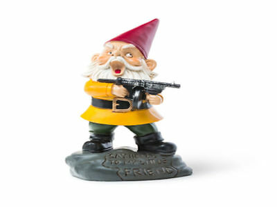Angry Little Garden Gnome (Scarface) Brand New