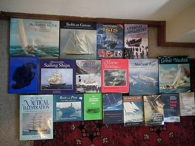 18 Books Ships, Boats, Shipping, Sailing, Yachts