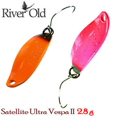 River Old Sattelite Ultra Vespa II 2.8 g, 28 mm Trout Spoon Assorted Colors