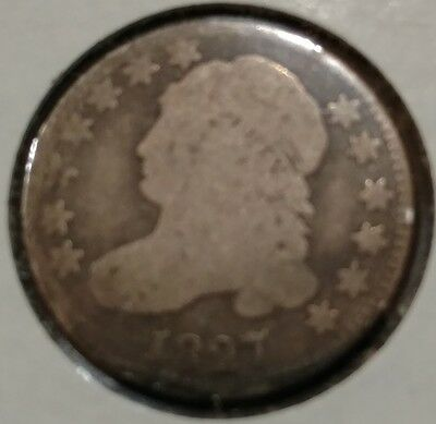 1827 Capped Bust Dime Silver 10c