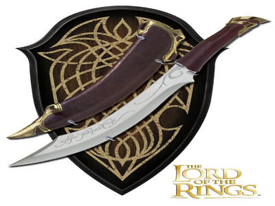 The Lord Of The Rings - Knife of Aragorn (50cm) with Wood Plaque - Brand New