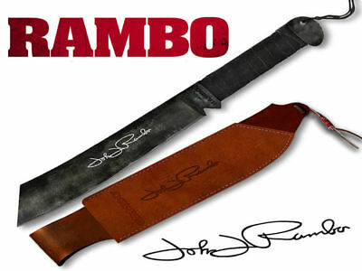 Rambo IV Knife (45cm) with Leather Sheath Brand New