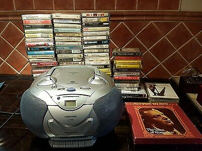 Job lot of Cassette Tapes and a Grundig Stereo to play them on!