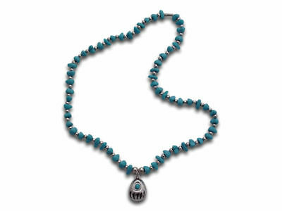 Native American Bear Claw Necklace (Blue) Brand New