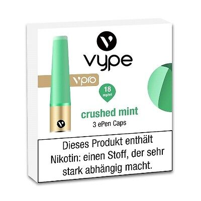 Liquidpatrone Vype Epen vpro Crushed Mint Refill 18 mg/ml à 3 Caps / 84536