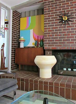 HUGE Mid Century Modern ARCHITECTURAL POTTERY Style BISQUE Sculpture PLANTER