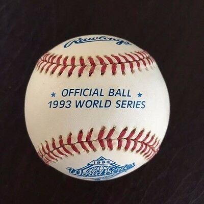 1993 Rawlings Official World Series Baseball Phillies Blue Jays New in Box