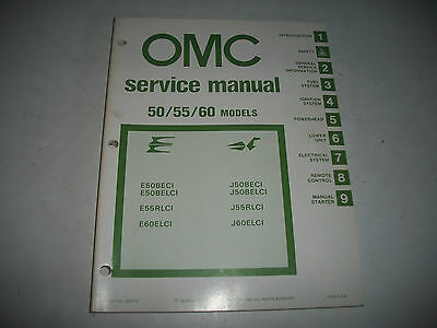 1981 Evinrude & Johnson 50/55/60 Hp Outboard  Oem Service Shop  Manual Clean