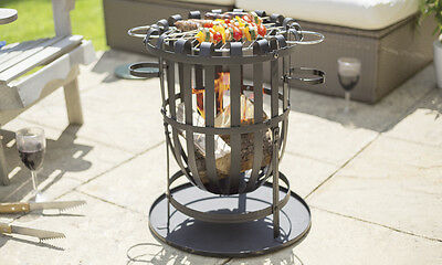Buenavista Steel Patio Fire Basket Brazier Pit Garden Patio Heater BBQ Fireplace