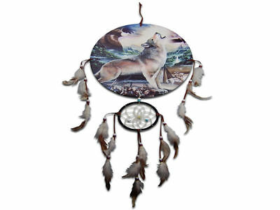 Howling Wolf & Eagle Dreamcatcher Brand New