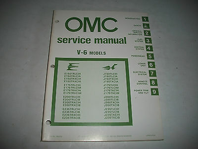 1981 Evinrude & Johnson V-6 Models Outboard  Oem Service Shop  Manual Clean