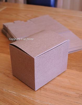 10 New Brown Card Kraft Recycled Gift Presentation Packaging Boxes Flatpack Box