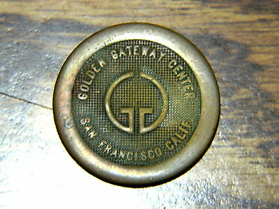 Rare, USA, San Francisco, copper parking token, Golden Gateway Center, 1968 -70