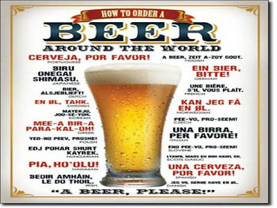 How To Order A Beer Retro Tin Sign (40cm x 30cm) Brand New