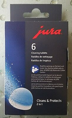 Jura 6 pack Cleaning Tablets for all Jura Automatic Coffee Centers brand New