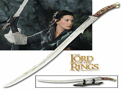 Lord Of The Rings Sword of Arwen (98cm) with Table Top Display Brand New